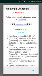 WhatsApp plus JiMODs v5.52 Jimtechs Editions