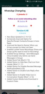 WhatsApp plus JiMODs v6.40 Jimtechs Editions