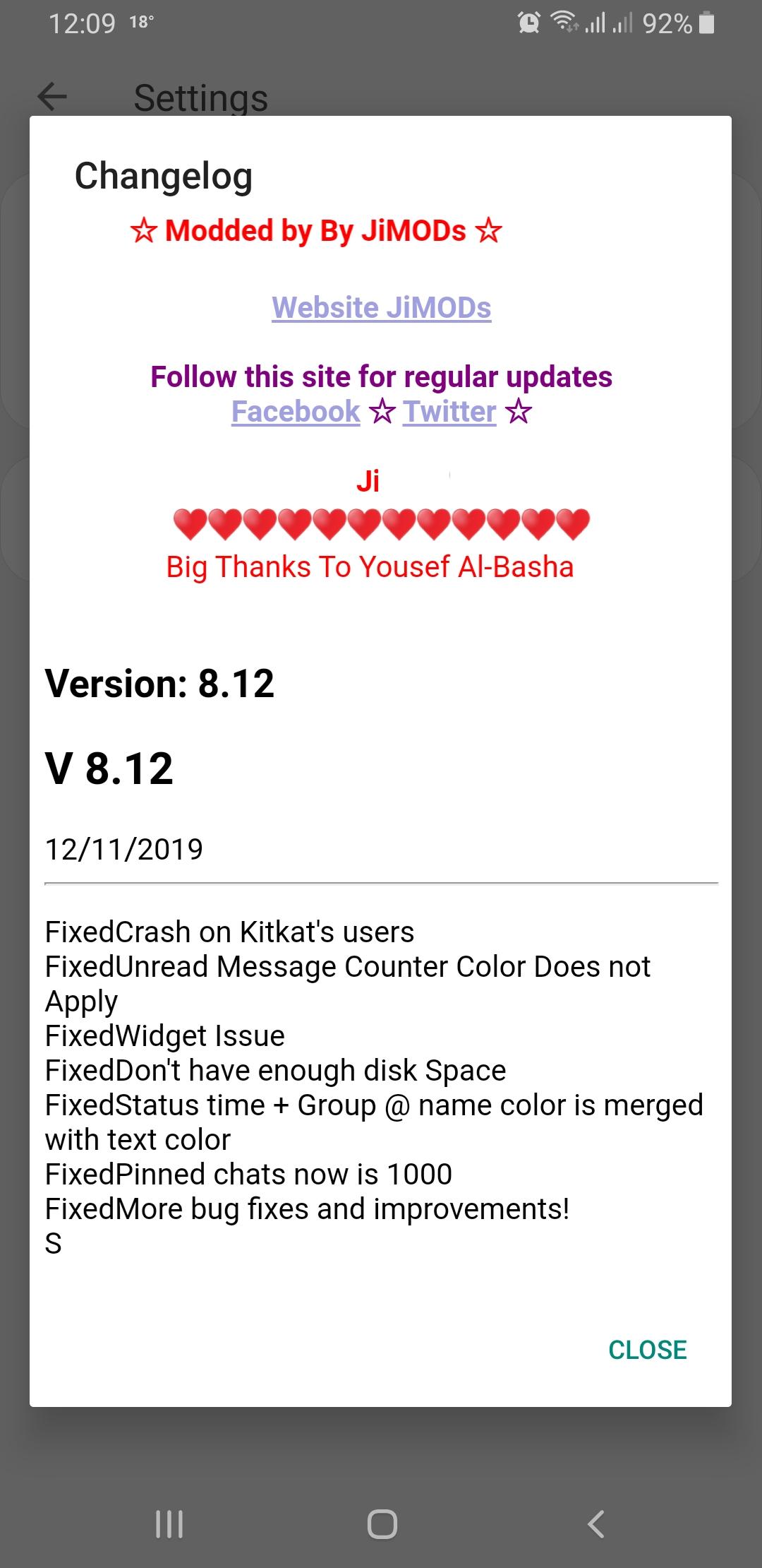 WhatsApp Plus JiMODs v8.12 Jimtechs Editions