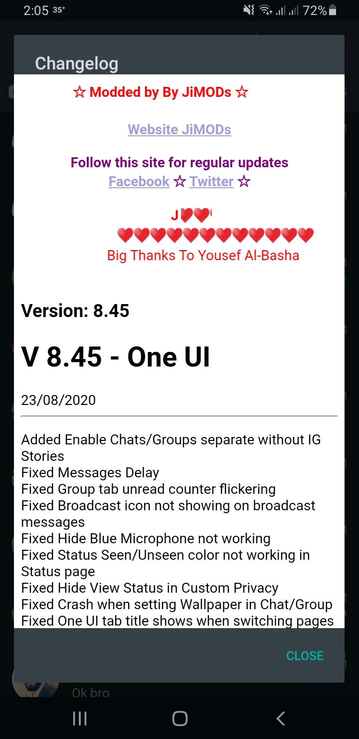 WhatsApp+ JiMODs v8.45 Jimtechs Editions