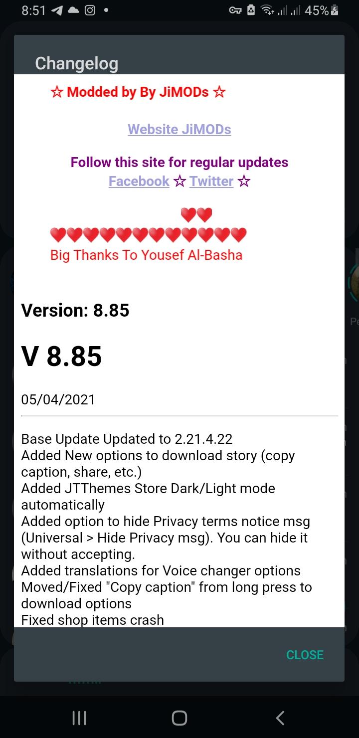 WhatsApp+ JiMODs v8.85 Jimtechs Editions
